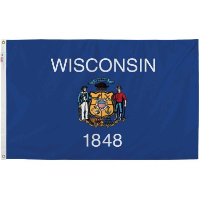 Valley Forge 3 Ft. x 5 Ft. Nylon Wisconsin State Flag