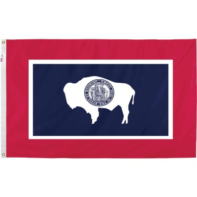 Valley Forge 3 Ft. x 5 Ft. Nylon Wyoming State Flag