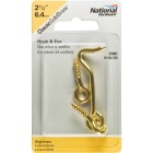 National Solid Brass 2-1/2 In. Hook & Eye Bolt Image 2