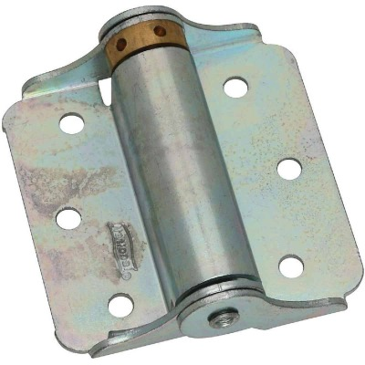 National 3 In. Zinc Plated Full-Surface Spring Door Hinge (2-Pack)