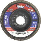 Weiler Vortec 4-1/2 In. x 7/8 In. 80-Grit Type 29 Angle Grinder Flap Disc Image 1
