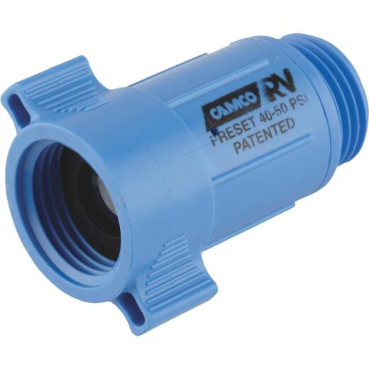 Camco 3/4 In. 40 - 50 psi Durable ABS Plastic RV Water Regulator