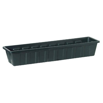 Novelty Poly-Pro 18 In. Polypropylene Hunter Green Flower Box Planter